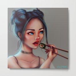 Chopsticks Metal Print