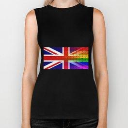 Gay Rainbow Wall Union Jack Biker Tank