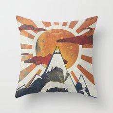 Mount Spitfire Throw Pillow