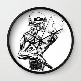 Military zombie - Skull military - zombie illustration Wall Clock