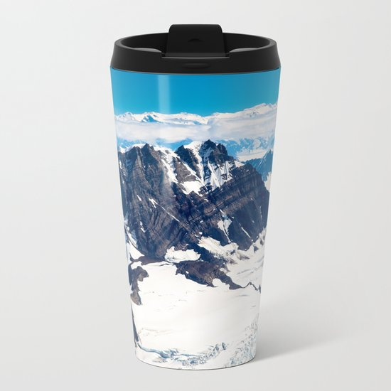 Snowy Mountains Metal Travel Mug