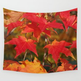 Fiery Autumn Maple Leaves 4966 Wall Tapestry