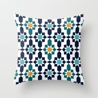 islam Throw Pillows featuring Marrakesh by Patterns and Textures