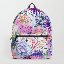 Eden Floral Multi White Backpack