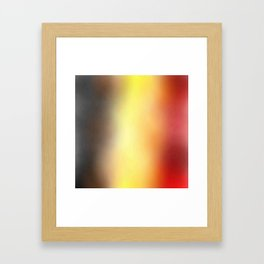 Flag of belgium 8 - with cloudy colors Framed Art Print