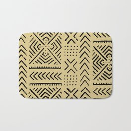 Line Mud Cloth // Tan Bath Mat