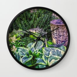 Greens and Yellows Garden Wall Clock