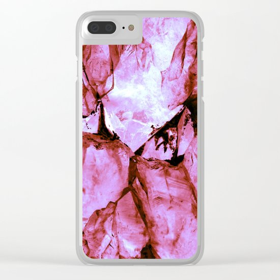 Pink Crystals Clear iPhone Case