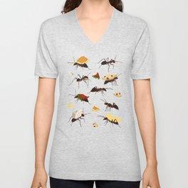 Ants Carrying Snacks Unisex V-Neck