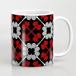 Royal Hearts on Black Coffee Mug