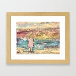 Beach Baby Girl Framed Art Print