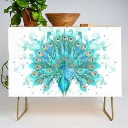 Watercolor Peacock Credenza