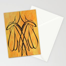 Women Together Minimalistic Line Drawing Stationery Cards