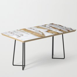 Snow Covered Birch Trees Coffee Table