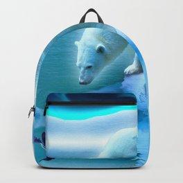 The Encounter - A Polar Bear & Penguin Fantasy Backpack