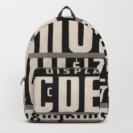 Cut In Display Gothic Type Backpack