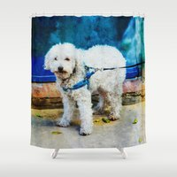 caleb troy Shower Curtains featuring The Adventures Of Troy I by Louisa Catharine Photography