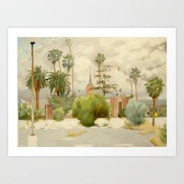 Palm Palms and Long Legs Art Print