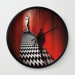 Twin peaks firewalk with me art Wall Clock