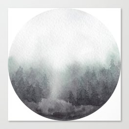 Watercolor Forest Canvas Print