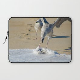 Oh That's Cold Coastal Bird Seagull Animal / Wildlife Photograph Laptop Sleeve