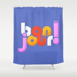 bonjour! french design Shower Curtain