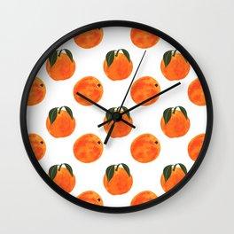 Peach Harvest Wall Clock