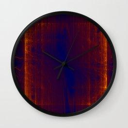 liquid glowing gold Wall Clock