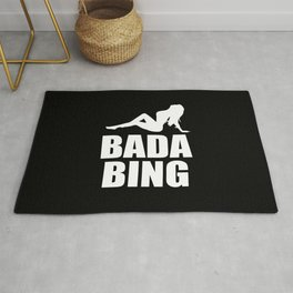 Bada bing television quote Rug
