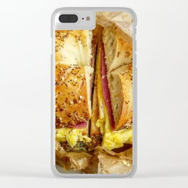 salami and egg Clear iPhone Case
