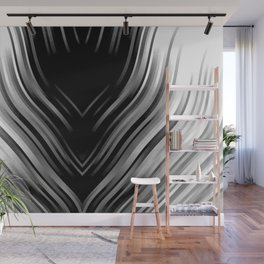 stripes wave pattern 3 bwii Wall Mural