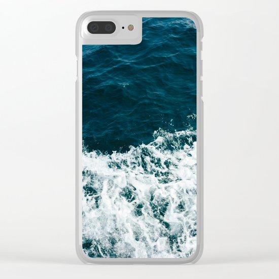 Ocean Crush Clear iPhone Case
