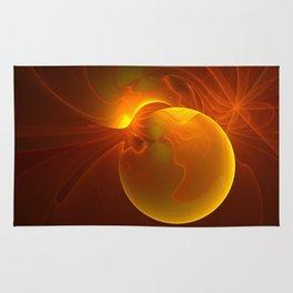 Sun abstract, Fractal Art Rug