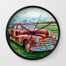 Oldsters Classic Car Vintage Automobile Old Rusty Wall Clock
