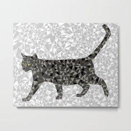 Geo Cat Metal Print