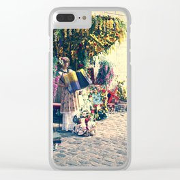Accordian player at Montmartre  Paris Clear iPhone Case
