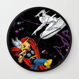 Thor vs The Silver Surfer Wall Clock