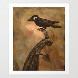 Gustav the Bird Art Print