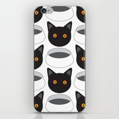 Cat Face & Bowl iPhone & iPod Skin