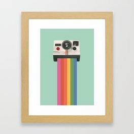 Insta Camera Illustraton Framed Art Print