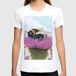 Bumblebee on a Thistle T-shirt