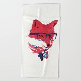 American Fox Beach Towel