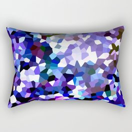 Ultra Violet Purple Blue Gems Rectangular Pillow