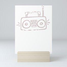 Music Drop Beats Not Bombs Mini Art Print