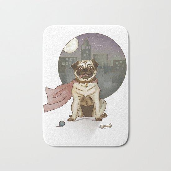 Super pug! Bath Mat