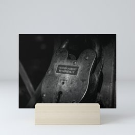 Rusty Lock in BW Mini Art Print