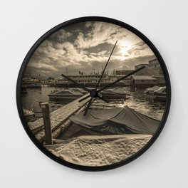 Cold Boats Wall Clock