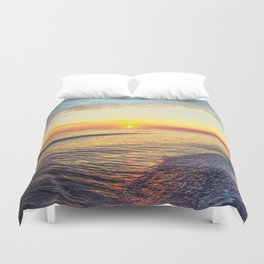 Summer Sunset Ocean Beach - Nature Photography Duvet Cover