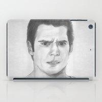 man of steel iPad Cases featuring Man of Steel by Feroz Bukht