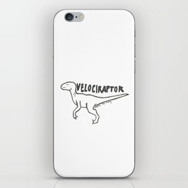 Velociraptor iPhone Skin